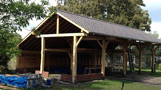 Uddel: Groot model tuinhuis in gebruik als veldschuur. Jakob van den ...